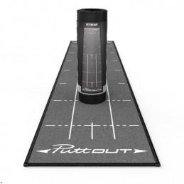 Puttout Medium Golf Putting Mat (grijs) PUT/MAT/GRY Puttout Golf oefenmateriaal