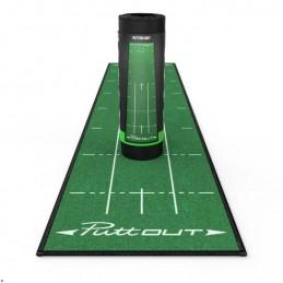 Puttout Medium Golf Putting Mat (groen) PUT/MAT/GRN Puttout Golf oefenmateriaal