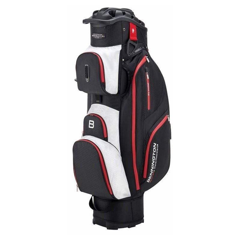 Bennington Quiet Organizer 14 Lite golftas (zwart-wit-rood) QO14-BWR Bennington Golf Golftassen