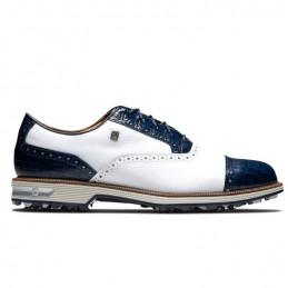 Footjoy DryJoys Premiere Tarlow heren golfschoen (wit-blauw) 53904 Footjoy HEREN