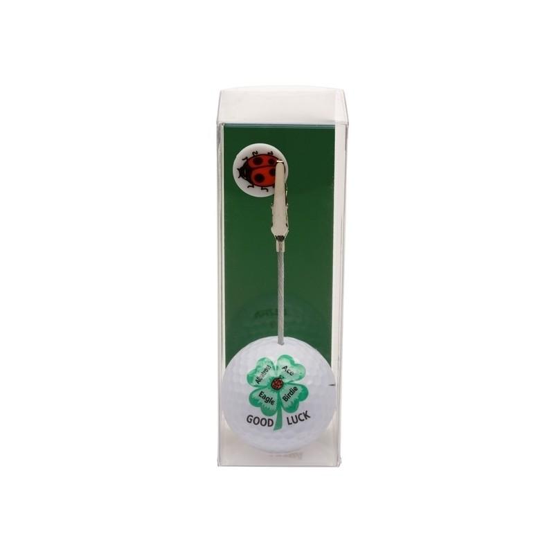 Golfbal met opdruk en marker - Good Luck (1 stuks) 2160 Silverline Golf €7,95