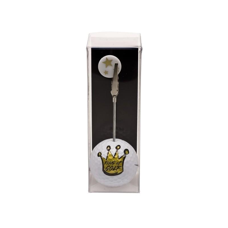 Golfbal met opdruk en marker - King of Golf (1 stuks) 2159 Silverline Golf €7,95