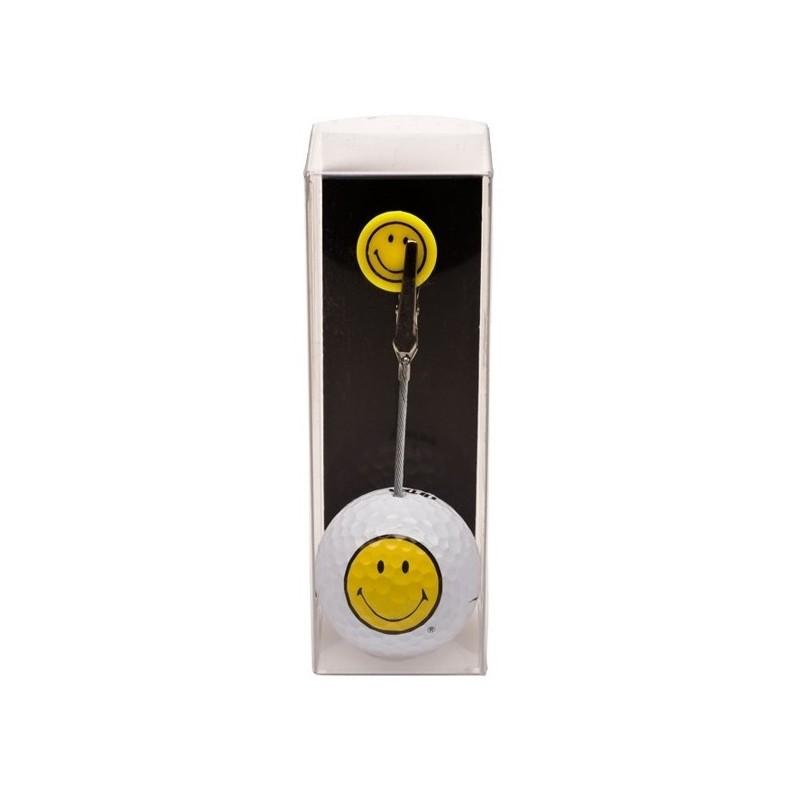 Golfbal met opdruk en marker - Smiley (1 stuks) 2080 Silverline Golf €7,95