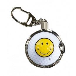 Sleutelhanger met golfbal - Smiley (1 stuks) KEYSM Sportiques Golfcadeaus