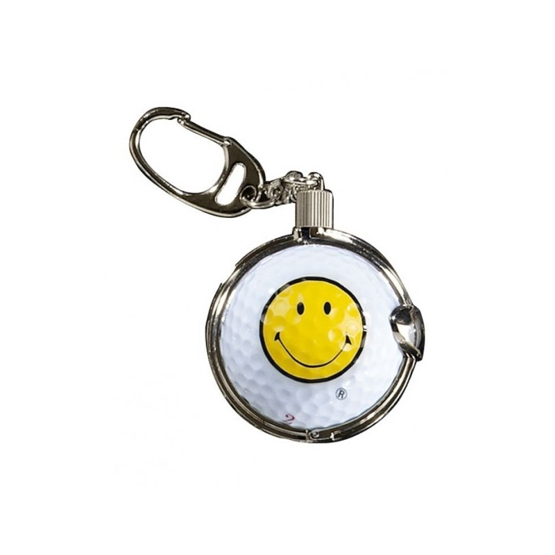 Sleutelhanger met golfbal - Smiley (1 stuks)  Silverline Golf €8,95