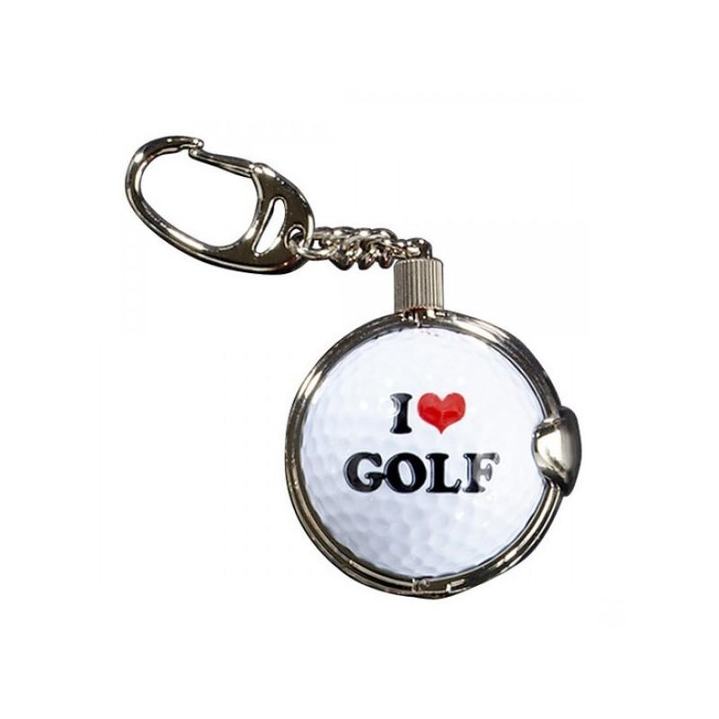 Sleutelhanger met golfbal - I Love Golf (1 stuks)  Silverline Golf €8,95