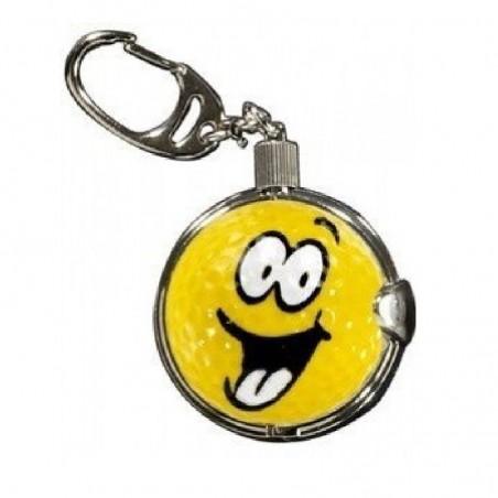 Sleutelhanger met golfbal - Smiley XL (1 stuks)  Silverline Golf €8,95