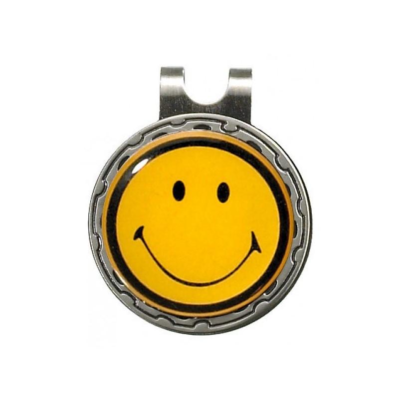 Magnetische marker op hatclip - Smiley (1 stuks)  Silverline Golf €9,95