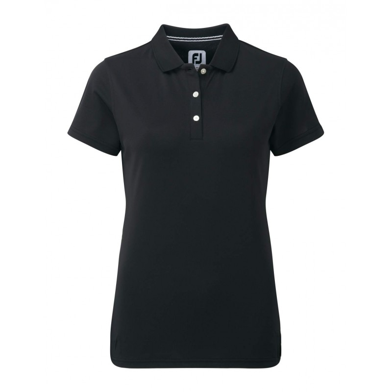 FootJoy Stretch Pique Solid dames golf poloshirt (zwart) 94321 Footjoy € 64,99