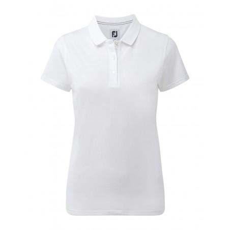 FootJoy Stretch Pique Solid dames golf poloshirt (wit) 94322 Footjoy Golfkleding