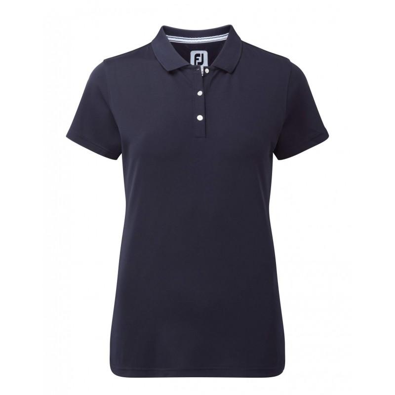 FootJoy Stretch Pique Solid dames golf poloshirt (donkerblauw) 94323 Footjoy €64,99