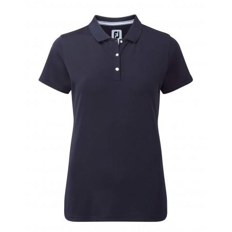 FootJoy Stretch Pique Solid dames golf poloshirt (marineblauw) 94323 Footjoy Golfkleding