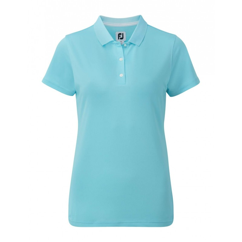 FootJoy Stretch Pique Solid dames golf poloshirt (aqua) 94325 Footjoy € 69,00