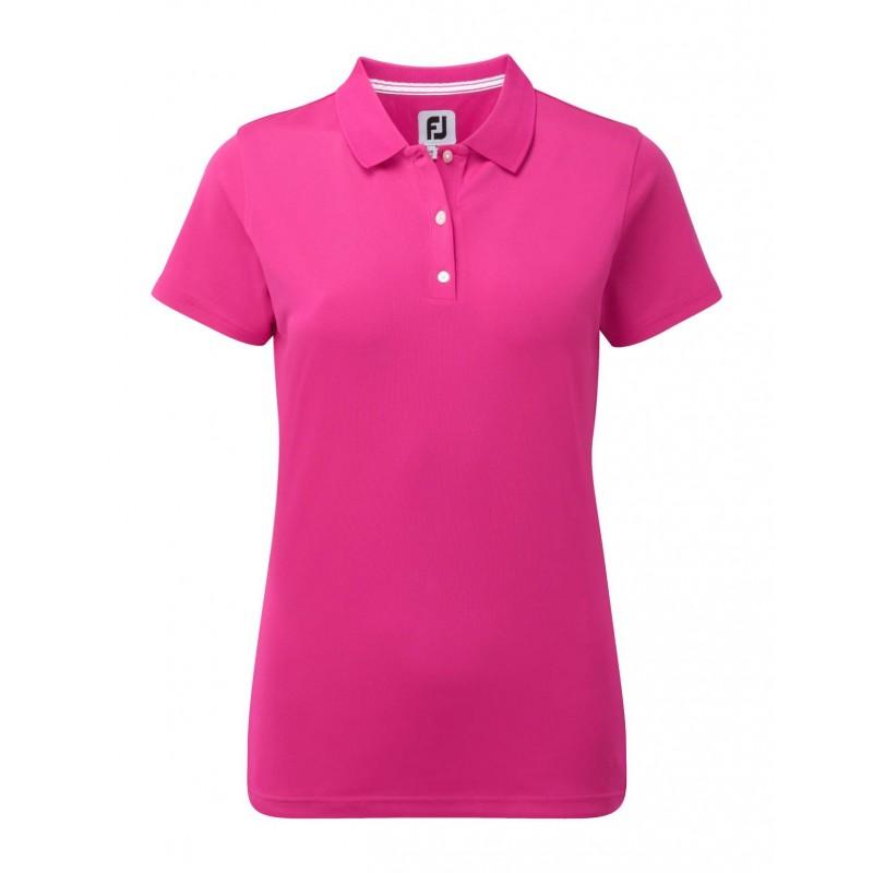 FootJoy Stretch Pique Solid dames golf poloshirt (roze) 94326 Footjoy €69,00