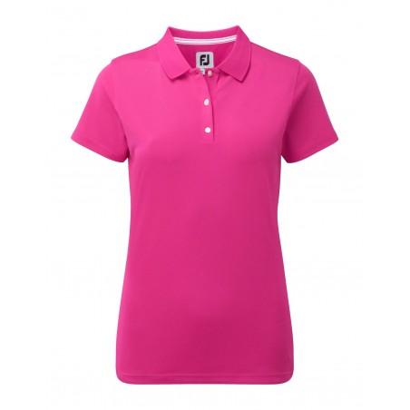 FootJoy Stretch Pique Solid dames golf poloshirt (roze) 94326 Footjoy Golfpolo's