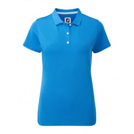 FootJoy Stretch Pique Solid dames golf poloshirt (blauw) 94327 Footjoy Golfkleding