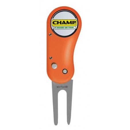 Champ Flix pitchfork (oranje) 142617 Champ Golfspikes Golfaccessoires