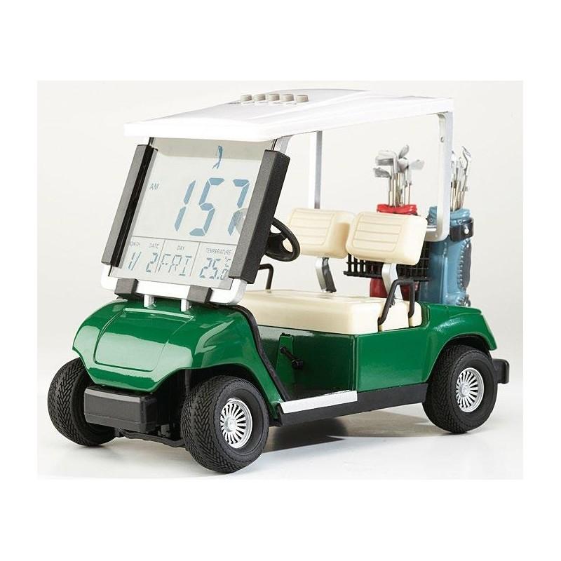 Wekker - mini golfcart model (groen) 10642 Silverline Golf €29,95