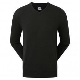 Footjoy Wool Blend v-neck heren golftrui (zwart) 90129 Footjoy Golfkleding