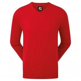 Footjoy Wool Blend v-neck heren golftrui (rood) 90132 Footjoy Golfkleding