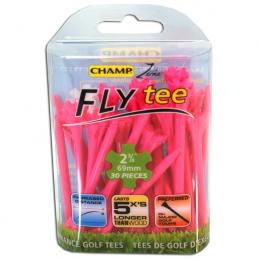 Champ Zarma FLYtee 2 3/4 inch 69mm tees (roze) 95509 Champ Golfspikes Golfaccessoires