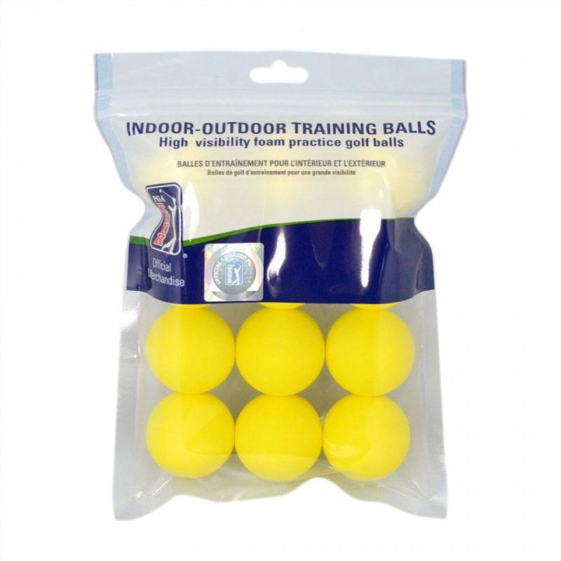 PGA Tour Foam oefen golfballen 12 stuks (geel) PGAT112A PGA Tour  Golfballen