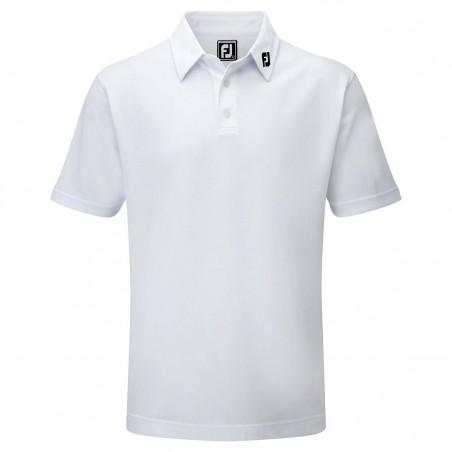 FootJoy Stretch Pique heren golfpolo shirt (wit) 91823 Footjoy Golfkleding