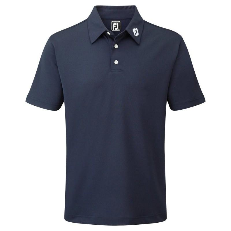 FootJoy Stretch Pique heren golfpolo shirt (marineblauw) 91824 Footjoy Golfkleding