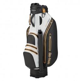 Bennington Dry Quiet Organizer waterdichte golf cartbag (zwart-wit-goud) QODB-BWG Bennington Golf Golftassen